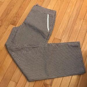 Liz Claiborne pants brown stripes. Audra sz 8.